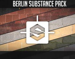 3d model VR / AR ready berlin substance pack