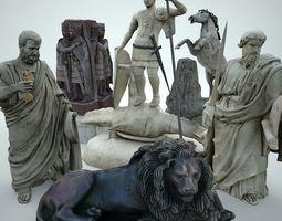 3D asset Statues Pack Vol3 andLODs