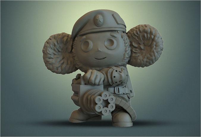 cheburashka vdv  3d model obj mtl 3ds stl wrl wrz 1
