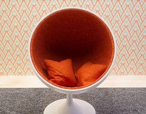 Round chair 3D vintage