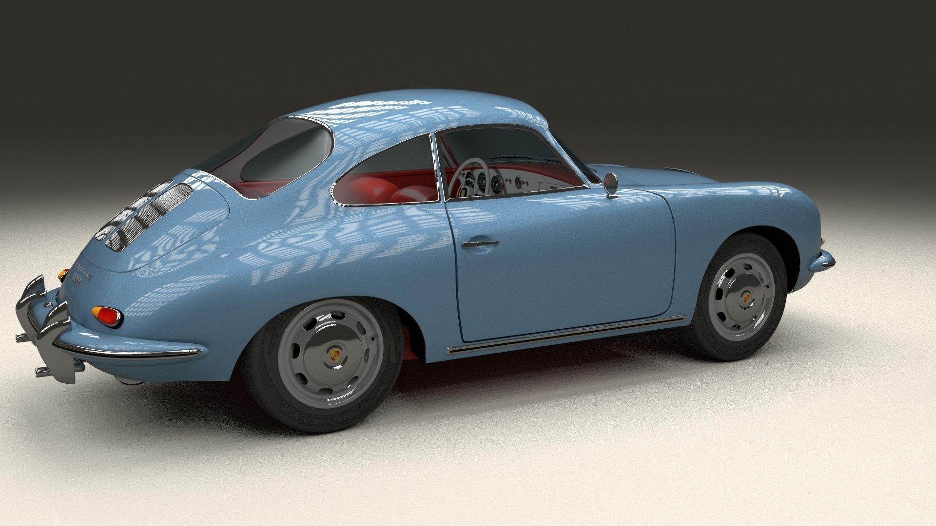 Porsche 356 3d Model Obj Stl Blend Dae Mtl Cgtrader
