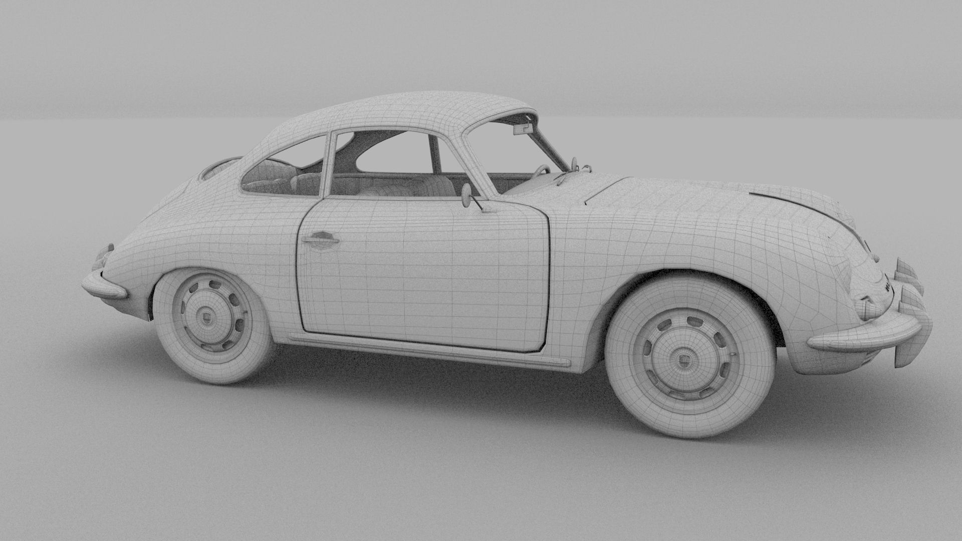 Porsche 356 3d Model Obj Stl Blend Dae Cgtrader Com