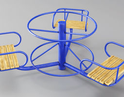 3D asset Childrens Roundabout Small