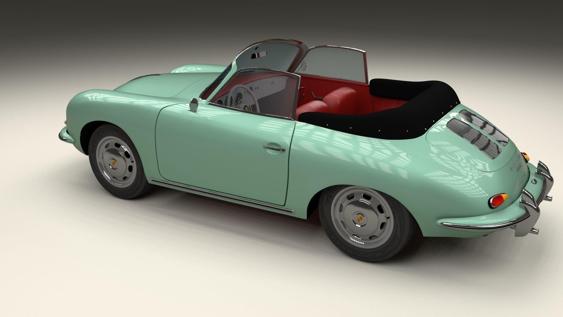 Porsche 356 Convertible 3d Model Obj Stl Blend Dae