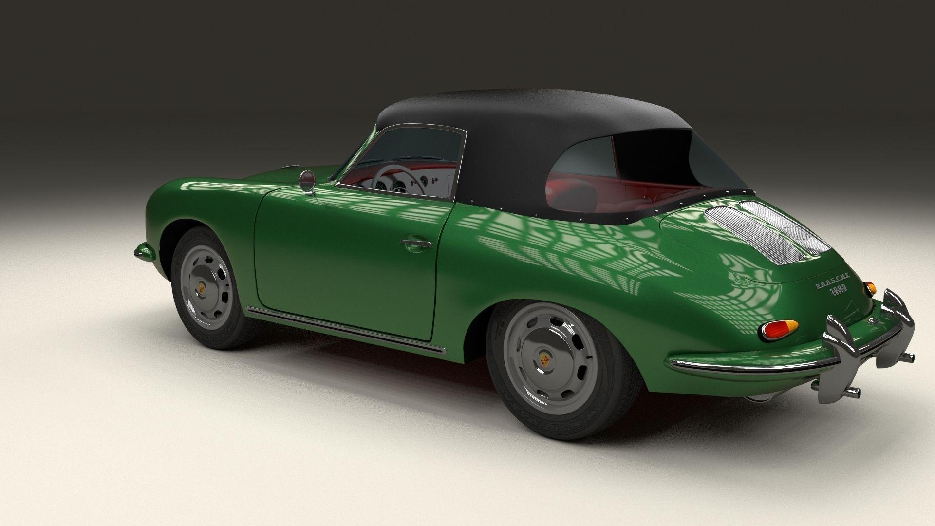 Porsche 356 Cabriolet 3d Model Obj Stl Blend Dae
