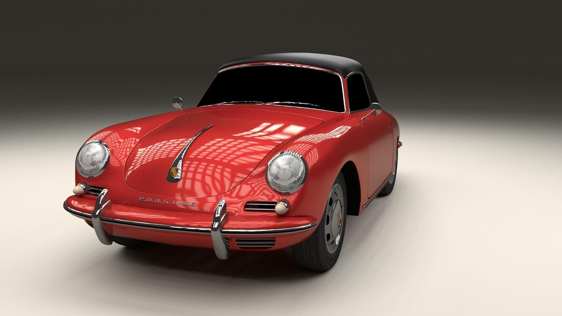 Porsche 356 Cabrio 3d Model Obj Stl Blend Dae Cgtrader Com