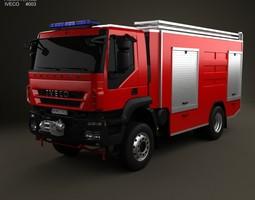 3d model iveco trakker fire truck 2-axis 2012