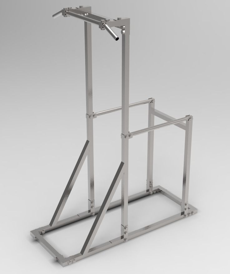 Gym equipment Pull-up bar and Dip construc... free 3D Model - CGTrader.com