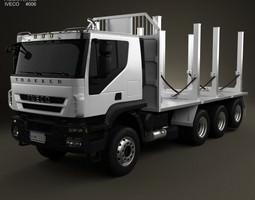 3D model Iveco Trakker Log Truck 4-axis 2012