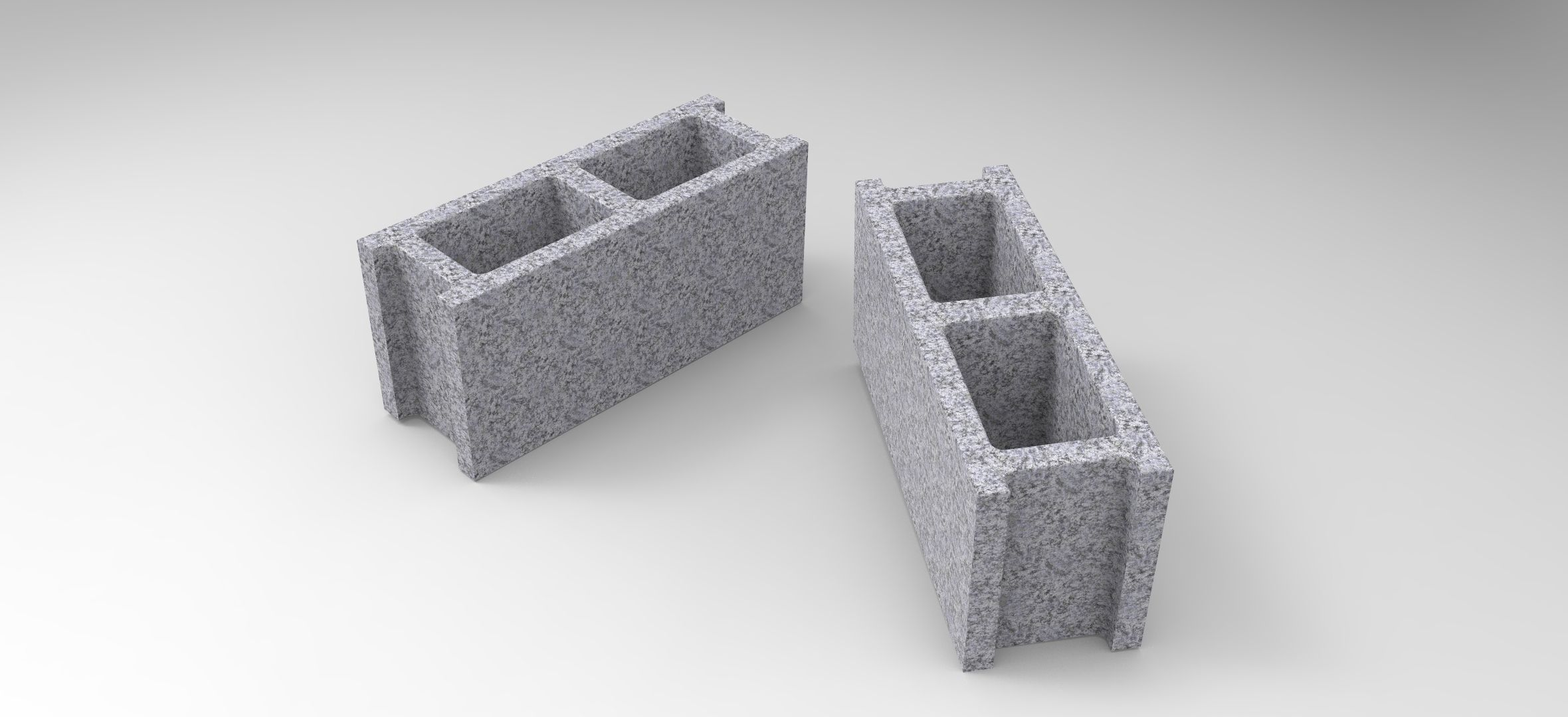 Concrete Block free 3D model