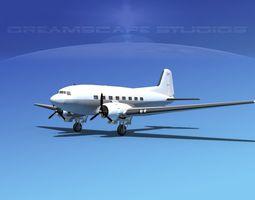 Douglas DC-3 Unmarked  3D Model