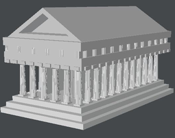 greek temple model