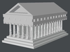 Greek Temple Model 3D Model