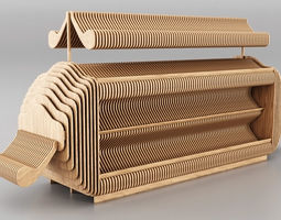 3D Trade Stand Wood