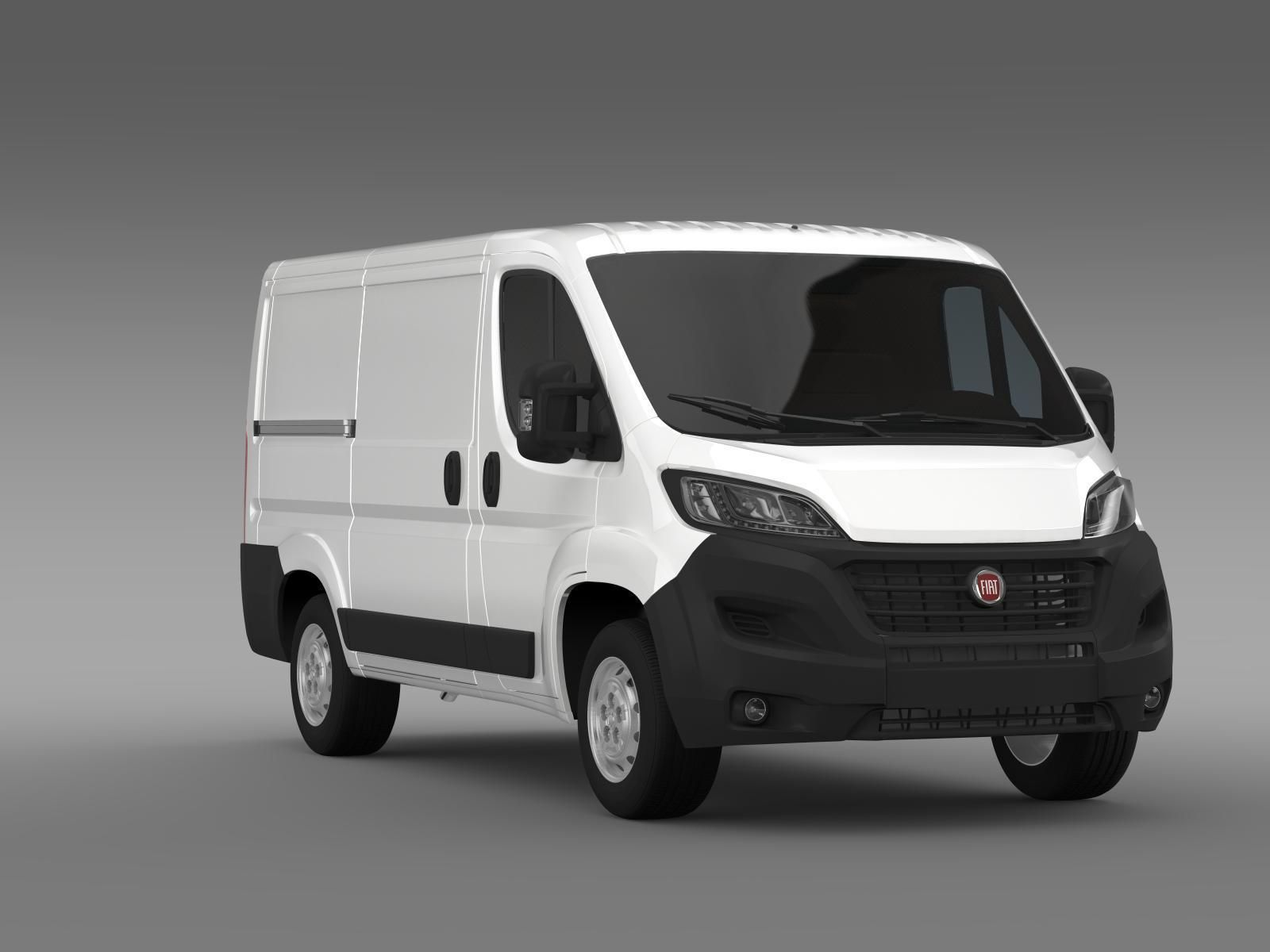fiat ducato van l1h1 2015 3d model max obj 3ds fbx c4d lwo lw lws. Black Bedroom Furniture Sets. Home Design Ideas