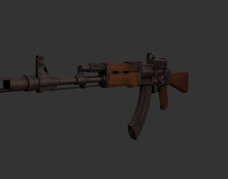 3d model realtime ak-74