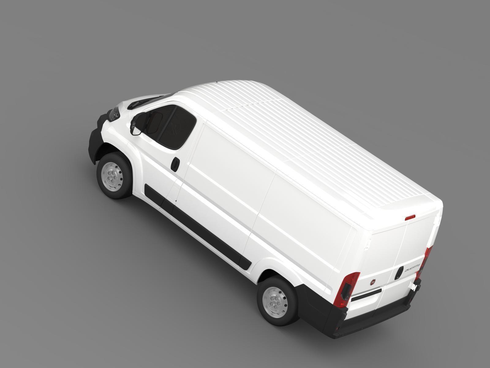 fiat ducato van l2h1 2015 3d model max obj 3ds fbx. Black Bedroom Furniture Sets. Home Design Ideas