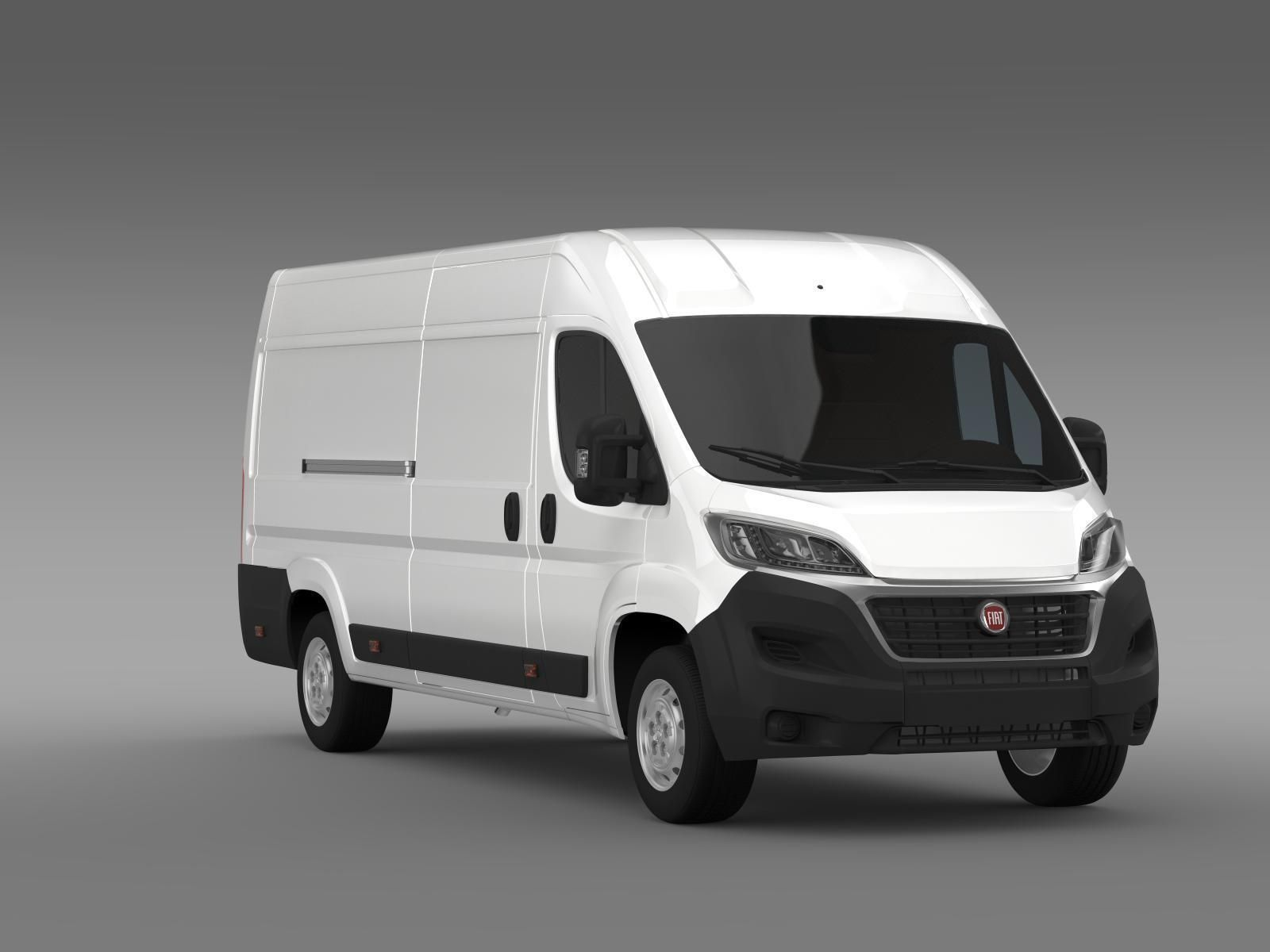 fiat ducato van l4h2 2015 3d model max obj 3ds fbx c4d lwo lw lws. Black Bedroom Furniture Sets. Home Design Ideas