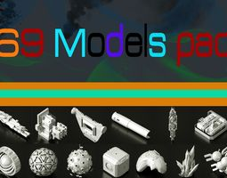 3D asset Objects pack