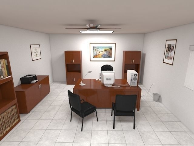 classic office jaz00 3d model max obj mtl fbx 1