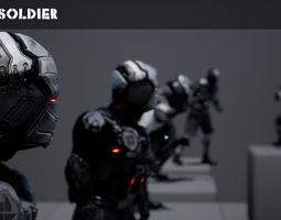 Grunt Soldier for Unreal Engine 4 3D asset
