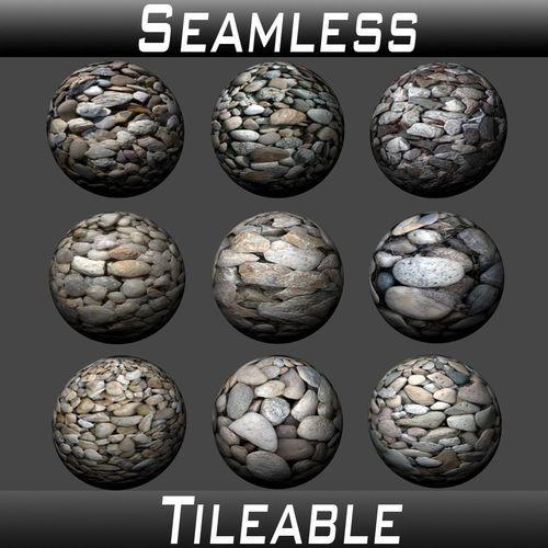 gravel textures pack 1 3d model  1