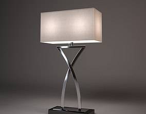 3D model Chelsom Polished Chrome Suite Table Lamp Large