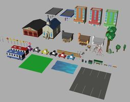 3D model Low Poly Rural Low Poly Assets Virtual and Game