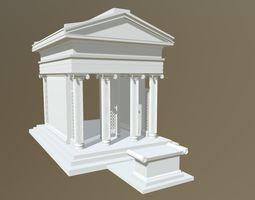 High Poly RomanTemple 3D