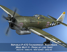Republic P-47D Thunderbolt - Miss Mutt II 3D model