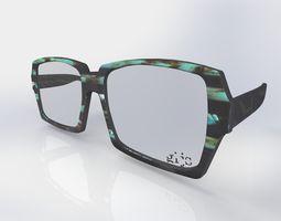 3D model multi layered laminated optical frame