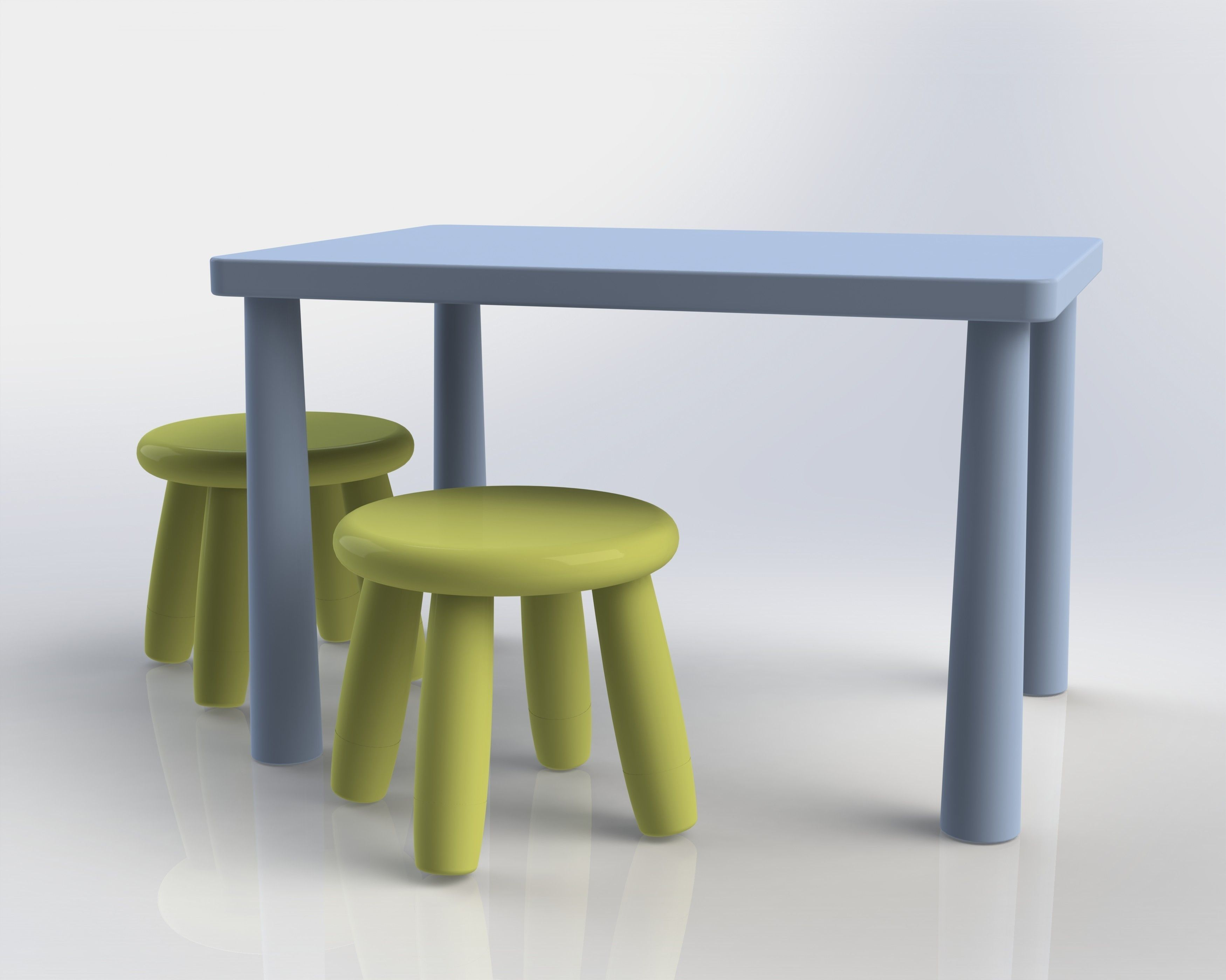 Ikea Mammut Chairs And Table Free 3d Model Sldprt Sldasm