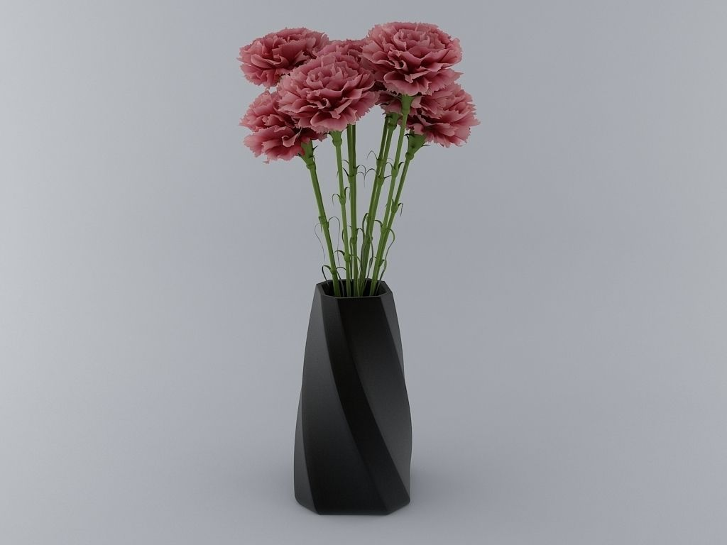 flower pot 3d print ready model 3d model 3d printable  stl