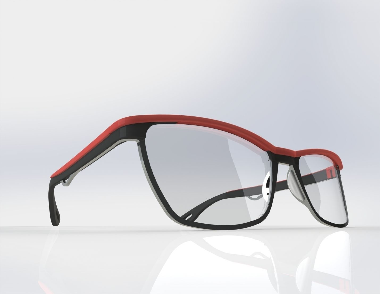 Acetate and titanium optical frame 3D   CGTrader