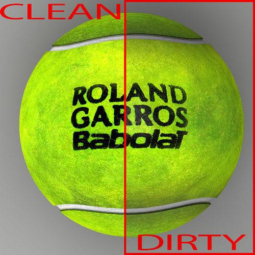 tennis ball roland garros 3d model max obj mtl 3ds fbx c4d ma mb 1