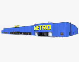 3D model Metro Cash And Carry Hypermarket