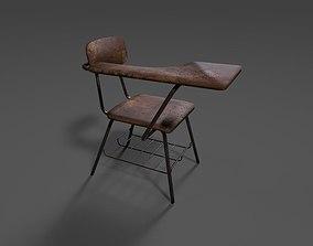 3D model game-ready School Desk