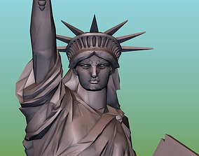 The Statue of Liberty 3D print model freedom