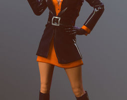 3D model Female 60s Spy
