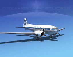 Douglas DC-3 Varig 3D Model