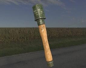 3D model Stick grenade