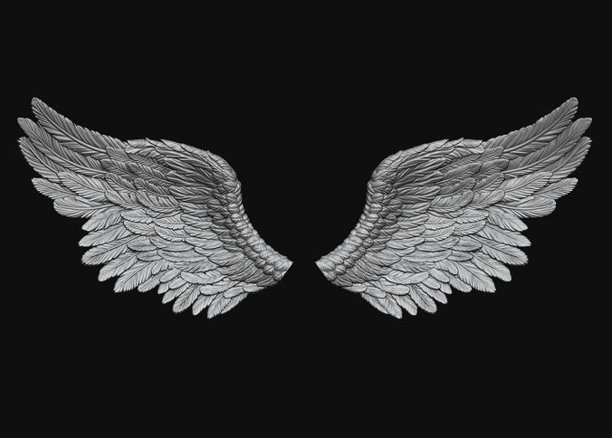 wings printable 5 3d model obj mtl stl 1