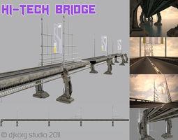 Hi tech bridge 3D model