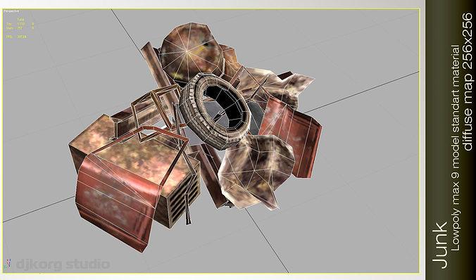 junk pile 3d model max obj mtl 1