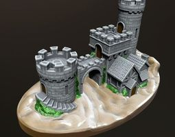 castle gate 3d printable model