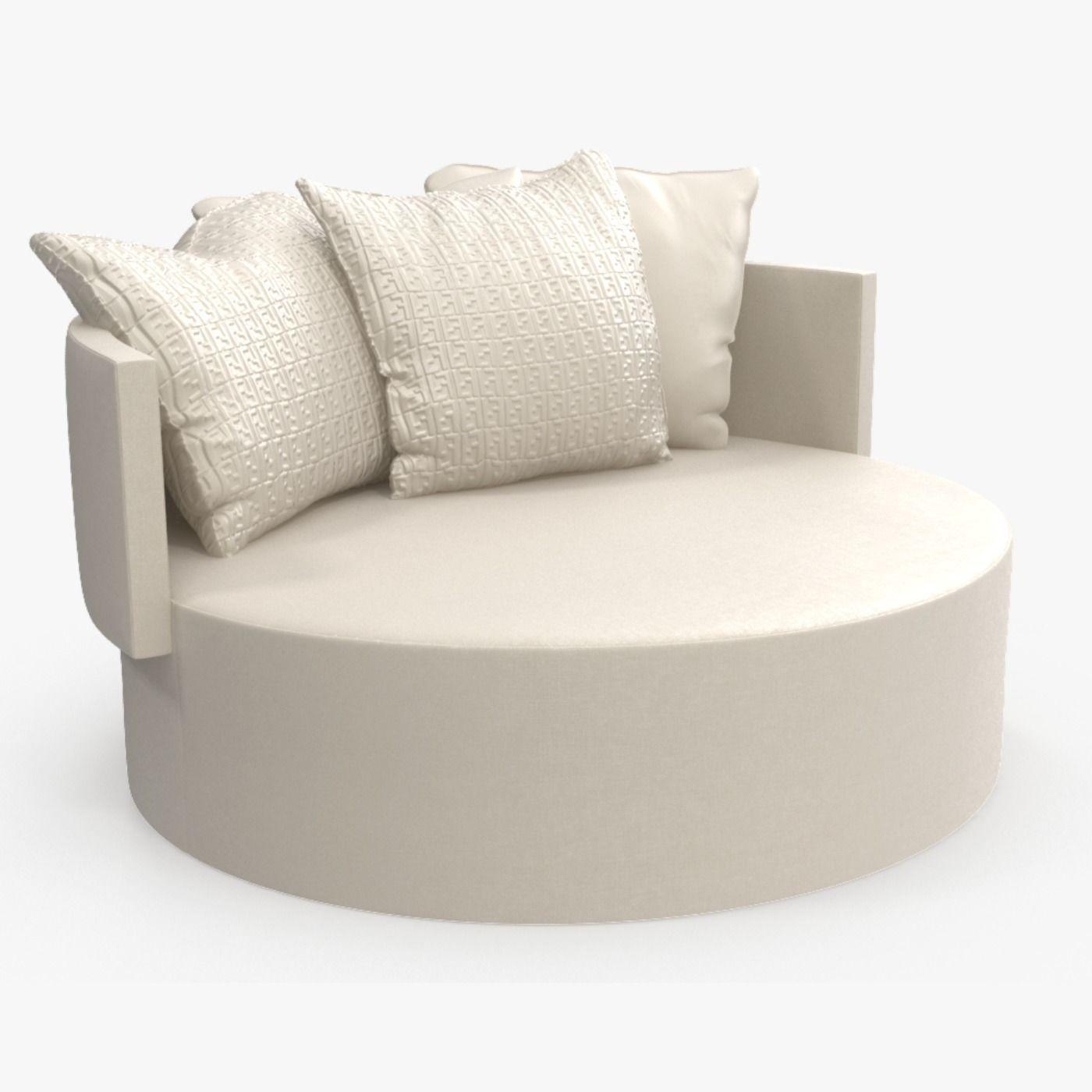 Admirable Fendi Efea Ottoman Sofa 3D Model Customarchery Wood Chair Design Ideas Customarcherynet