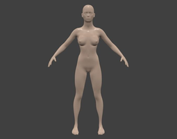 a wommen 3D Model