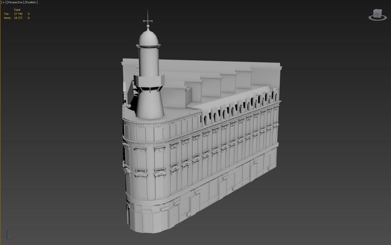 Classical style building 3d model max obj for 3d max building