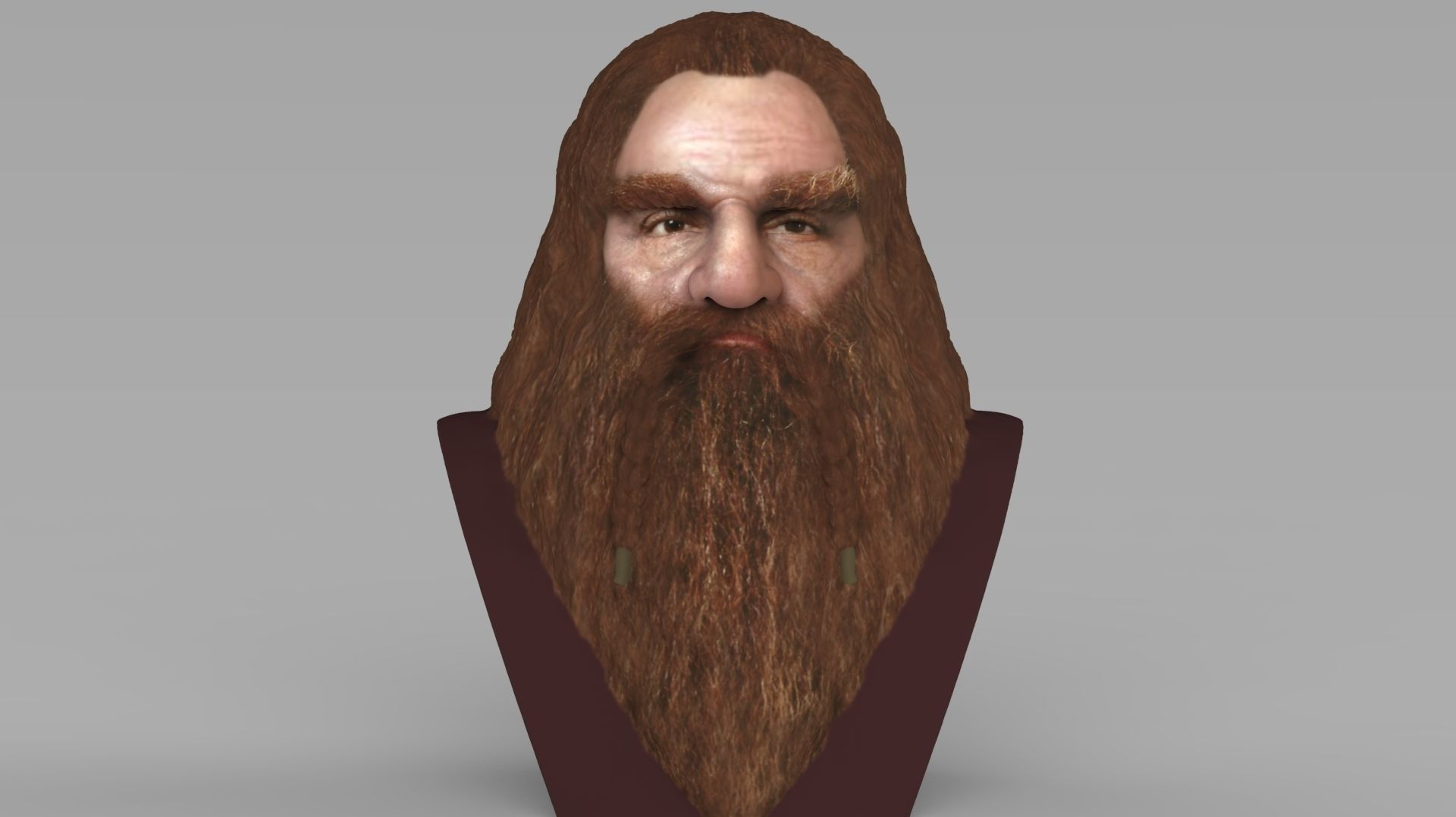 Gimli Lord of the Rings bust full color 3D printing ready
