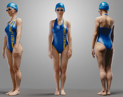 SwimmingpoolgirlCasualA 3D Model
